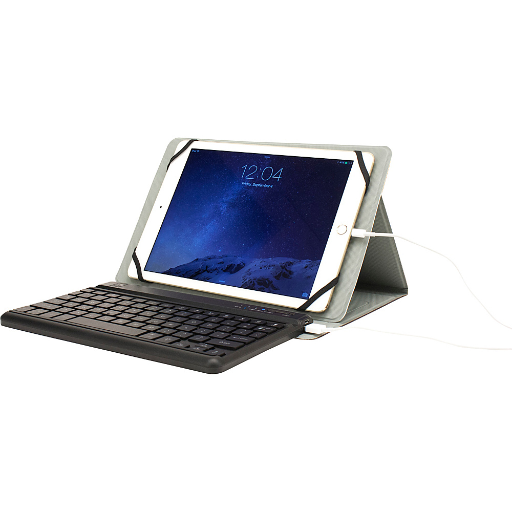 M Edge Folio Power Pro Keyboard for 9 10 Devices Heathered Grey M Edge Electronic Cases