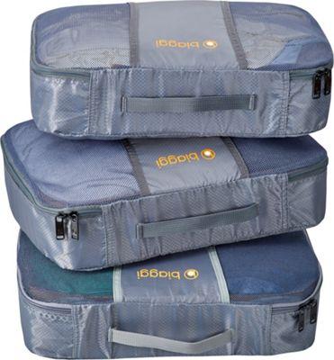 biaggi ZipCubes Packing Cubes Plus Shoe Bag/Laundry Bag, Small Grey - biaggi Travel Organizers