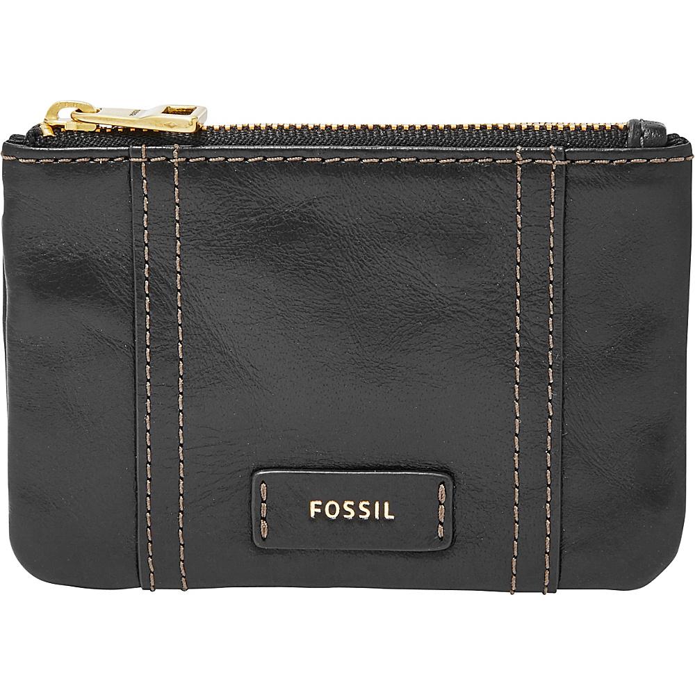 Fossil Ellis Zip Coin Black - Fossil Designer Handbags - Handbags, Designer Handbags