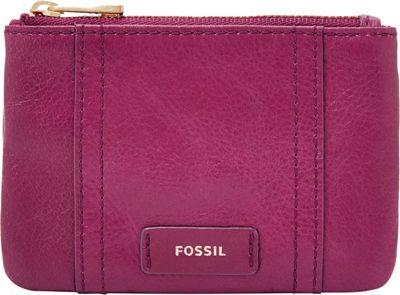 Fossil Ellis Zip Coin Raspberry Wine - Fossil Designer Handbags