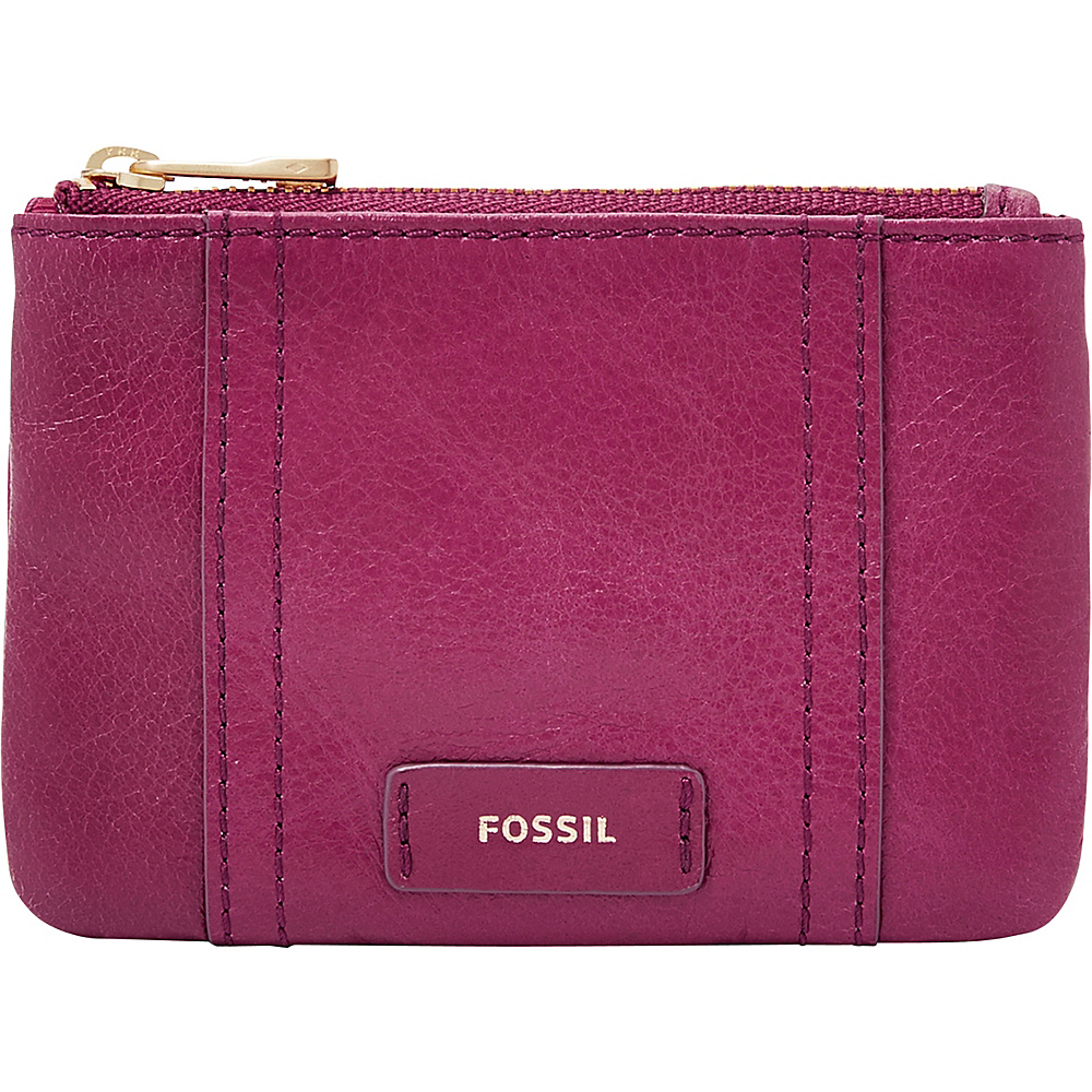 Fossil Ellis Zip Coin Raspberry Wine - Fossil Designer Handbags - Handbags, Designer Handbags