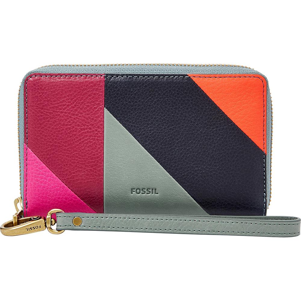 Fossil Emma RFID Smartphone Wristlet Blue Multi - Fossil Womens Wallets - Women's SLG, Women's Wallets