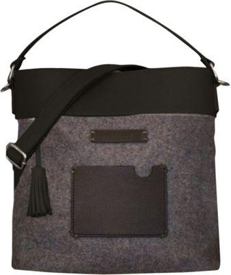 Sherpani Boheme Wool and Leather Convertible Crossbody Slate - Sherpani Fabric Handbags