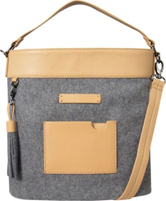 Sherpani Boheme Wool and Leather Convertible Crossbody Chai - Sherpani Fabric Handbags