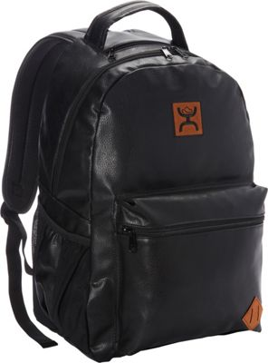 Hooey Original Leather Laptop Backpack Black - Hooey Business & Laptop Backpacks