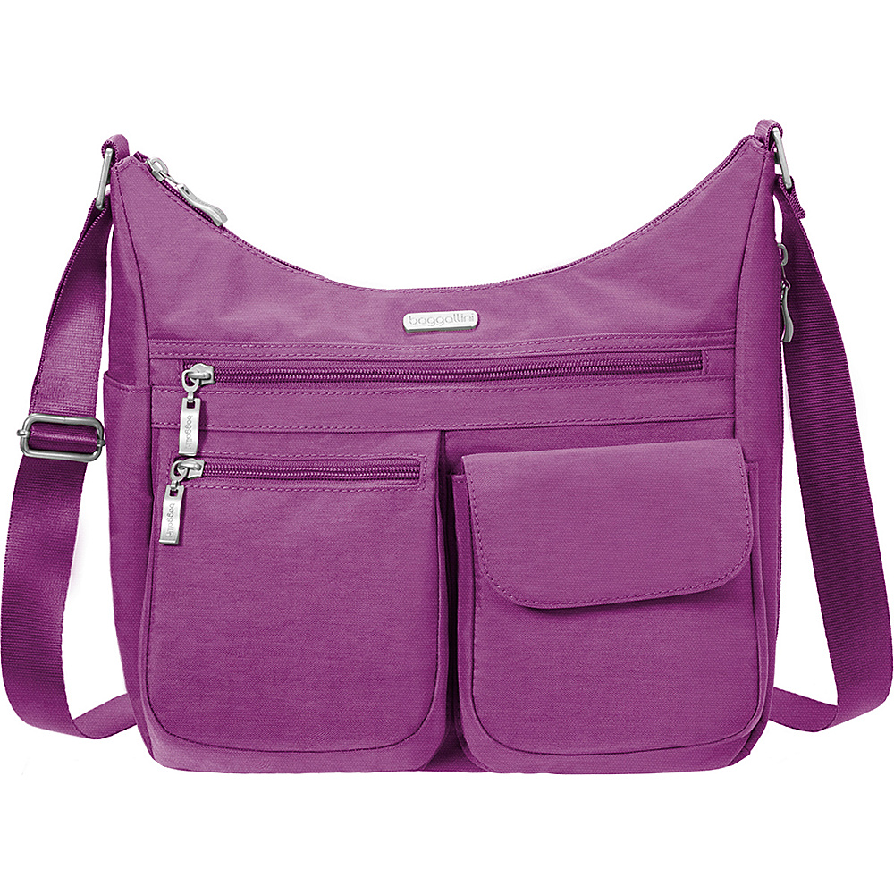 baggallini Everywhere Shoulder Bag with RFID - Retired Colors Magenta - baggallini Fabric Handbags - Handbags, Fabric Handbags