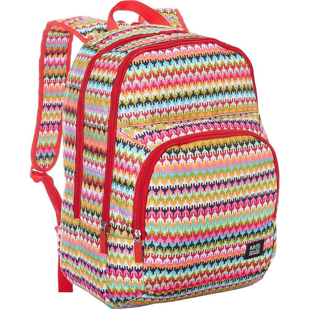 Miquelrius Triple School Backpack Ethnic Pattern Miquelrius Everyday Backpacks