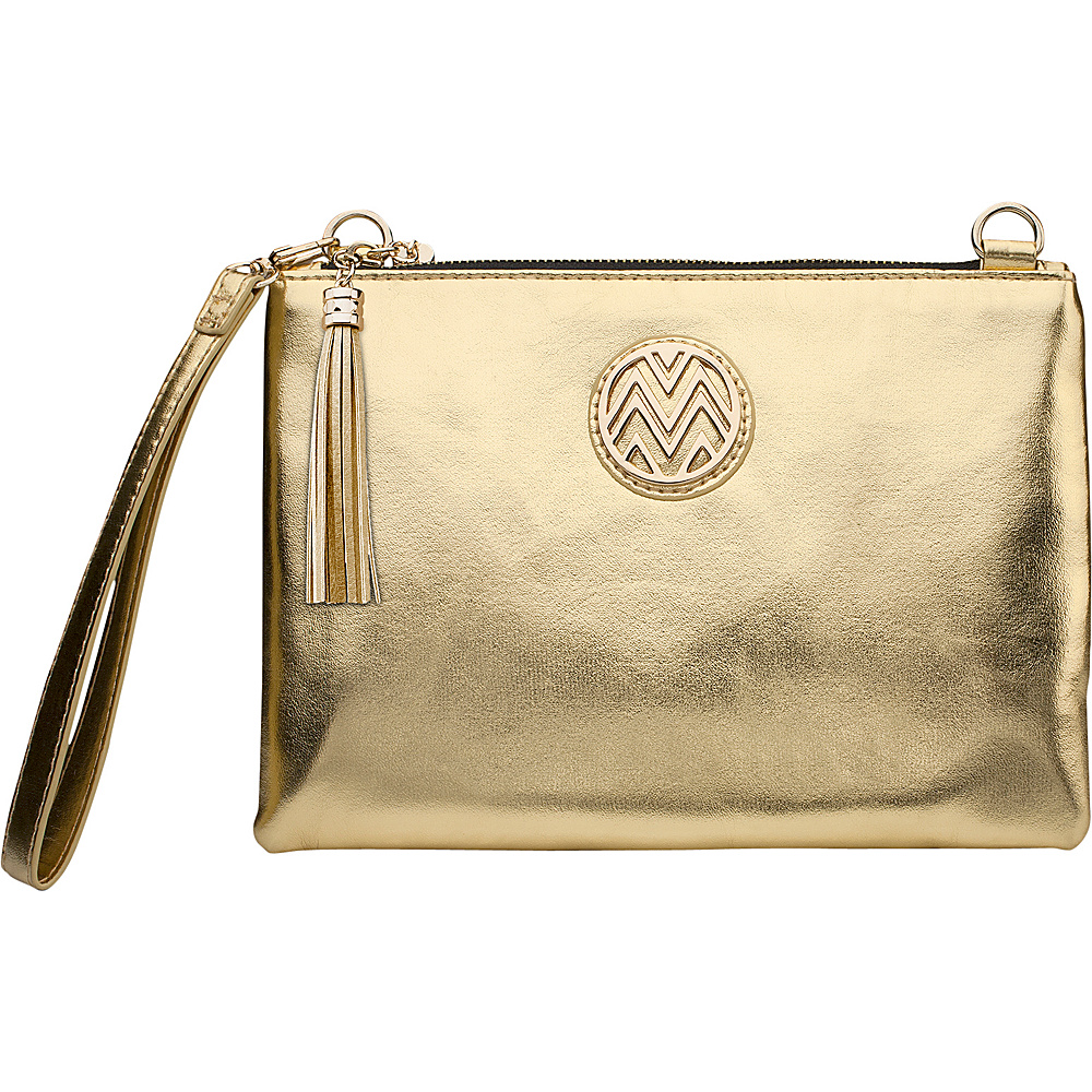 Macbeth Collection 2500mAh Power Clutch Gold - Macbeth Collection Manmade Handbags