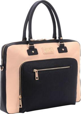 Sandy Lisa London Shoulder Bag Cream/Black - Sandy Lisa Non-Wheeled Business Cases