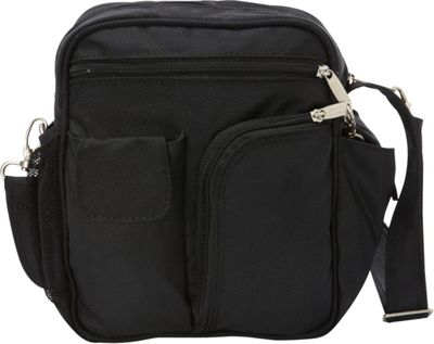 BeSafe by DayMakers RFID Medium Security Guide Shoulder Bag LX Black - BeSafe by DayMakers Fabric Handbags