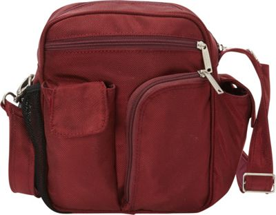 BeSafe by DayMakers RFID Medium Security Guide Shoulder Bag LX Cherry - BeSafe by DayMakers Fabric Handbags