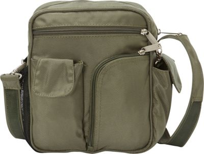 BeSafe by DayMakers RFID Medium Security Guide Shoulder Bag LX Sage - BeSafe by DayMakers Fabric Handbags