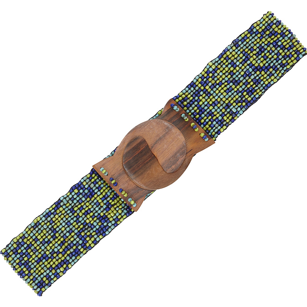 TLC you Stretch Beaded Belt Multi Blue Green TLC you Other Fashion Accessories