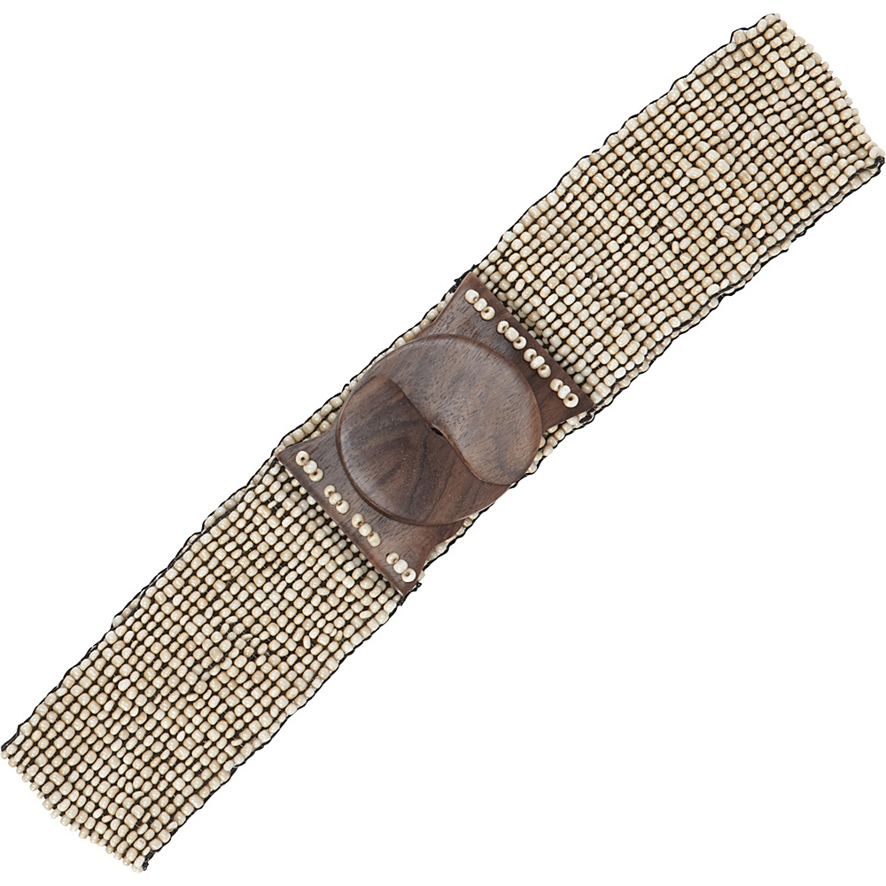 TLC you Stretch Beaded Belt Natural TLC you Other Fashion Accessories