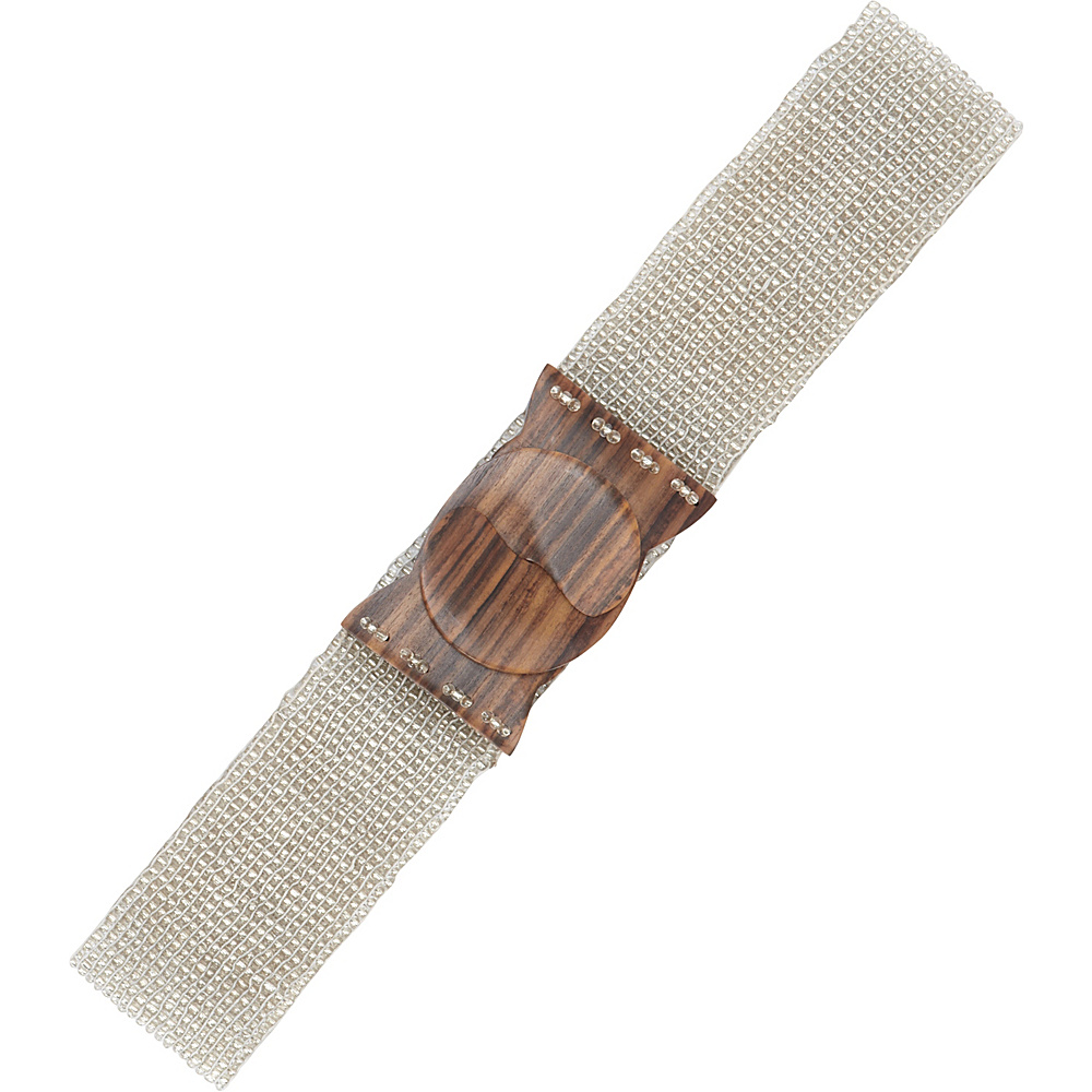 TLC you Stretch Beaded Belt Clear Silver TLC you Other Fashion Accessories