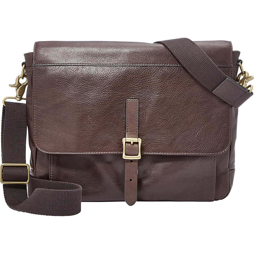 Fossil Defender EW City Shoulder Bag Brown - Fossil Other Mens Bags - Work Bags & Briefcases, Other Men's Bags