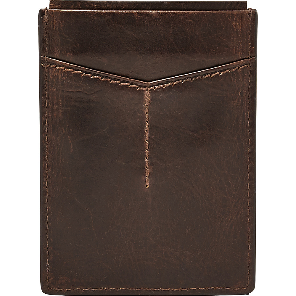 Fossil Derrick RFID Magnetic Card Case Brown - Fossil Mens Wallets - Work Bags & Briefcases, Men's Wallets