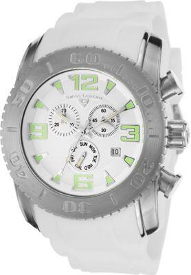 Swiss Legend Watches Commander Chronograph Silicone Watch White/White - Swiss Legend Watches Watches 10498365