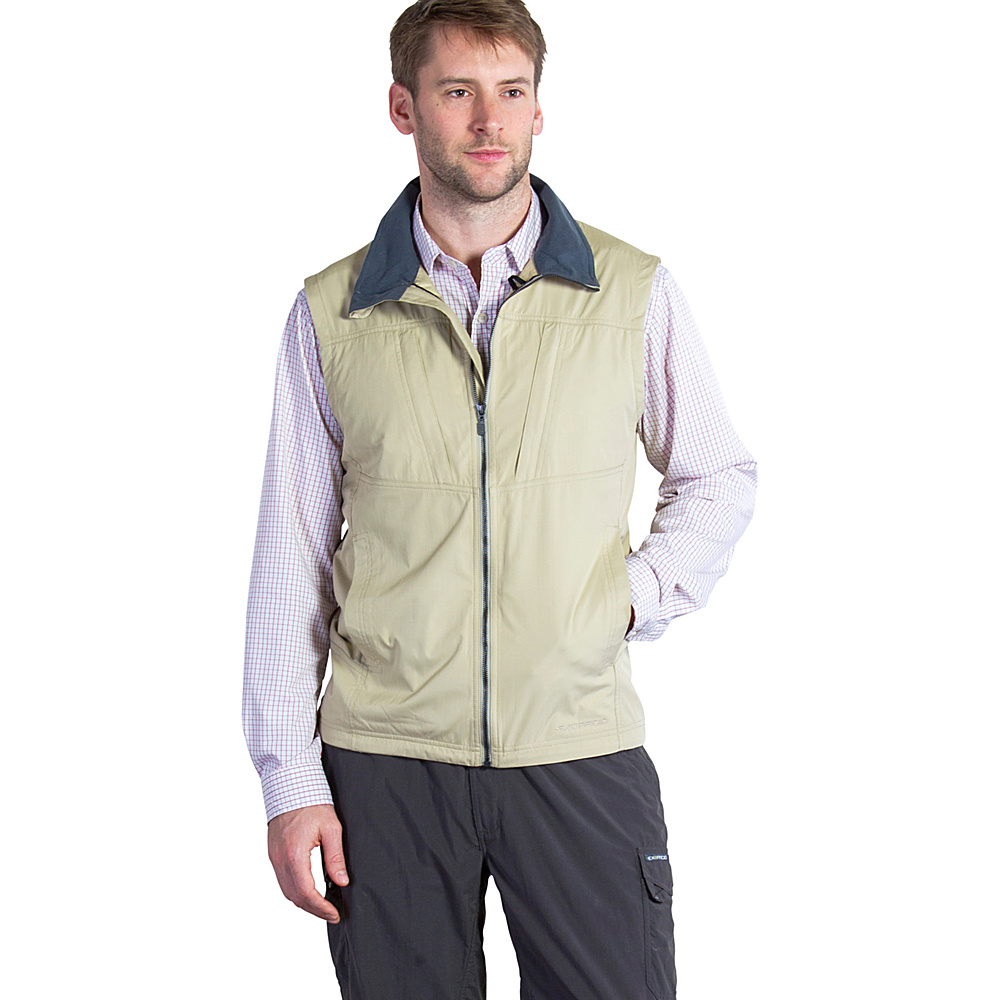 ExOfficio Mens FlyQ Vest XL - Light Khaki - ExOfficio Mens Apparel - Apparel & Footwear, Men's Apparel