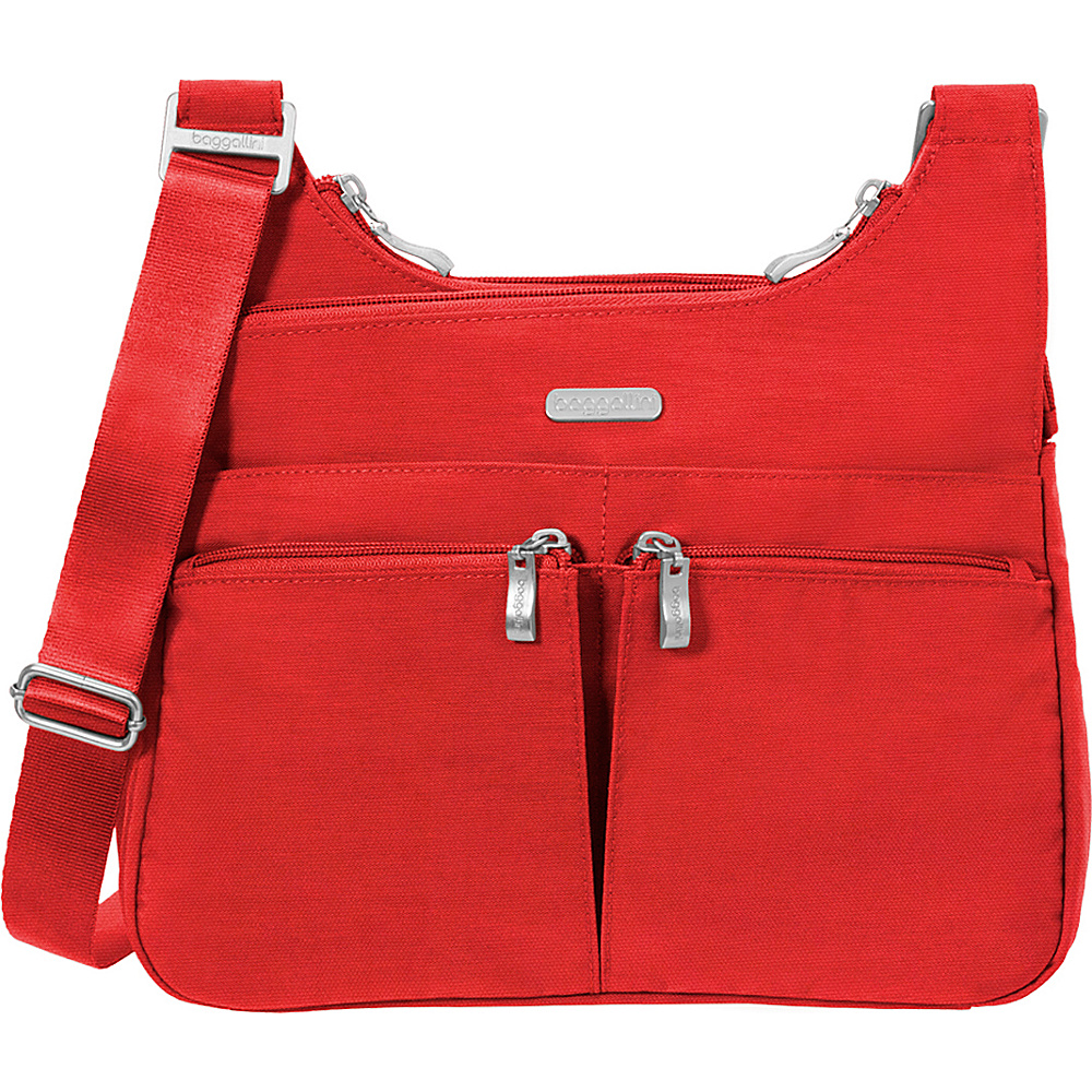 baggallini Cross Over Crossbody Hibiscus - baggallini Fabric Handbags - Handbags, Fabric Handbags
