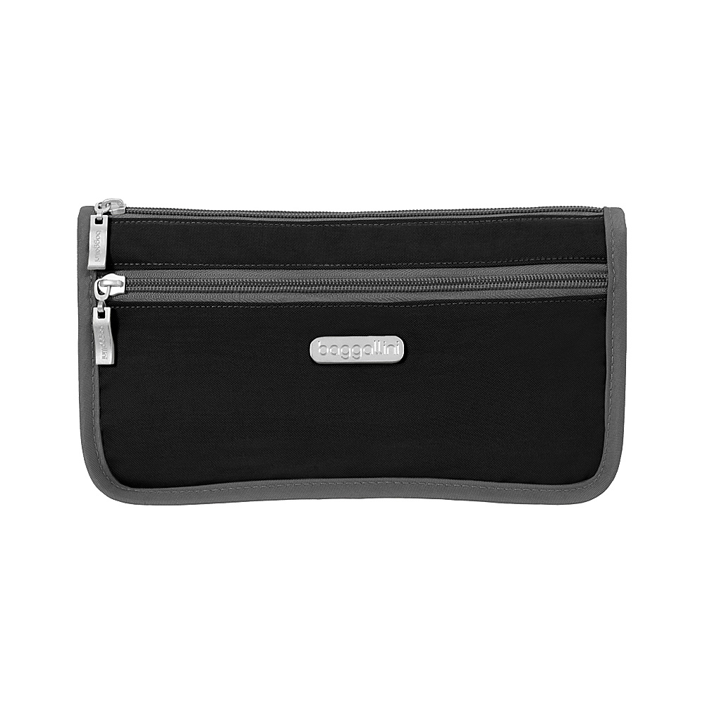 baggallini Large Wedge Cosmetic Case Black/Charcoal - baggallini Womens SLG Other - Women's SLG, Women's SLG Other