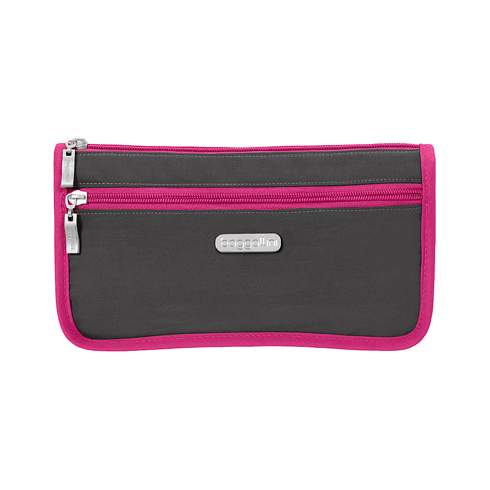 baggallini Large Wedge Cosmetic Case Charcoal/Fuchsia - baggallini Womens SLG Other - Women's SLG, Women's SLG Other