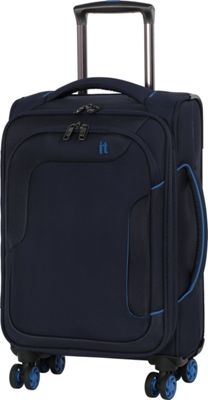 it luggage Amsterdam III 8 Wheel 21.5 Inch Carry On Evening Blue - it luggage Softside Carry-On