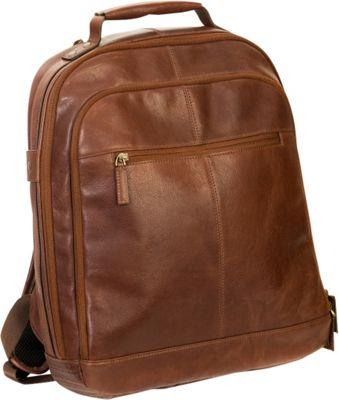 Boconi Becker RFID City Pack Whiskey w/ Khaki and Gingham - Boconi Business & Laptop Backpacks