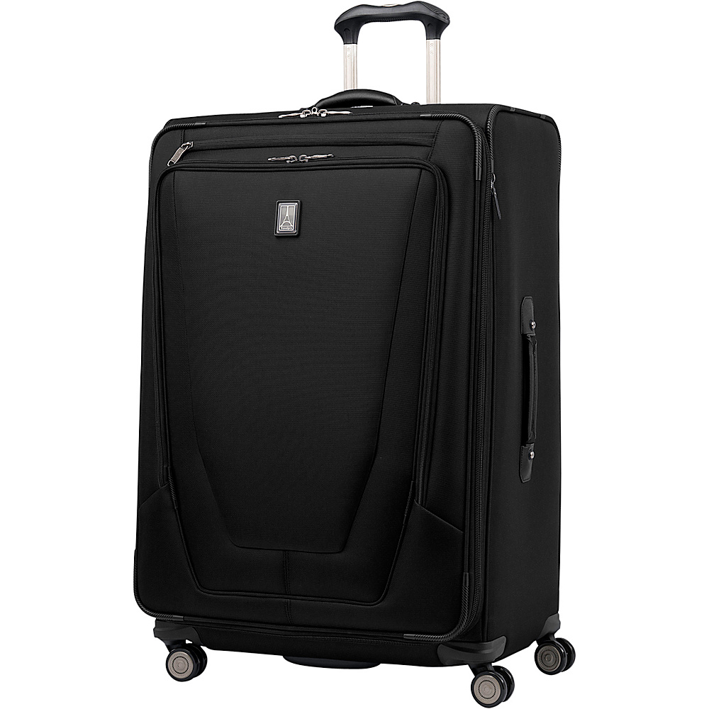 "Travelpro Crew 11 29"" Expandable Spinner Black - Travelpro Softside Checked"