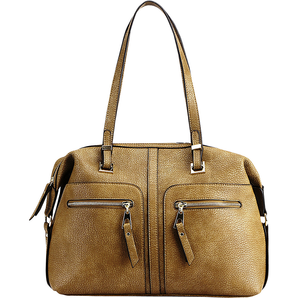 MKF Collection by Mia K. Farrow Blanche Satchel Beige - MKF Collection by Mia K. Farrow Manmade Handbags - Handbags, Manmade Handbags