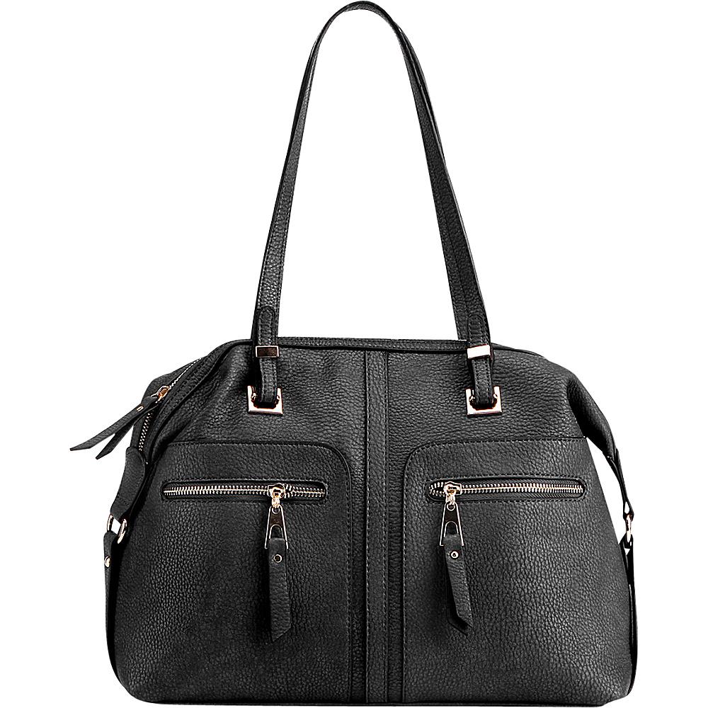 MKF Collection Blanche Satchel Black - MKF Collection Manmade Handbags - Handbags, Manmade Handbags