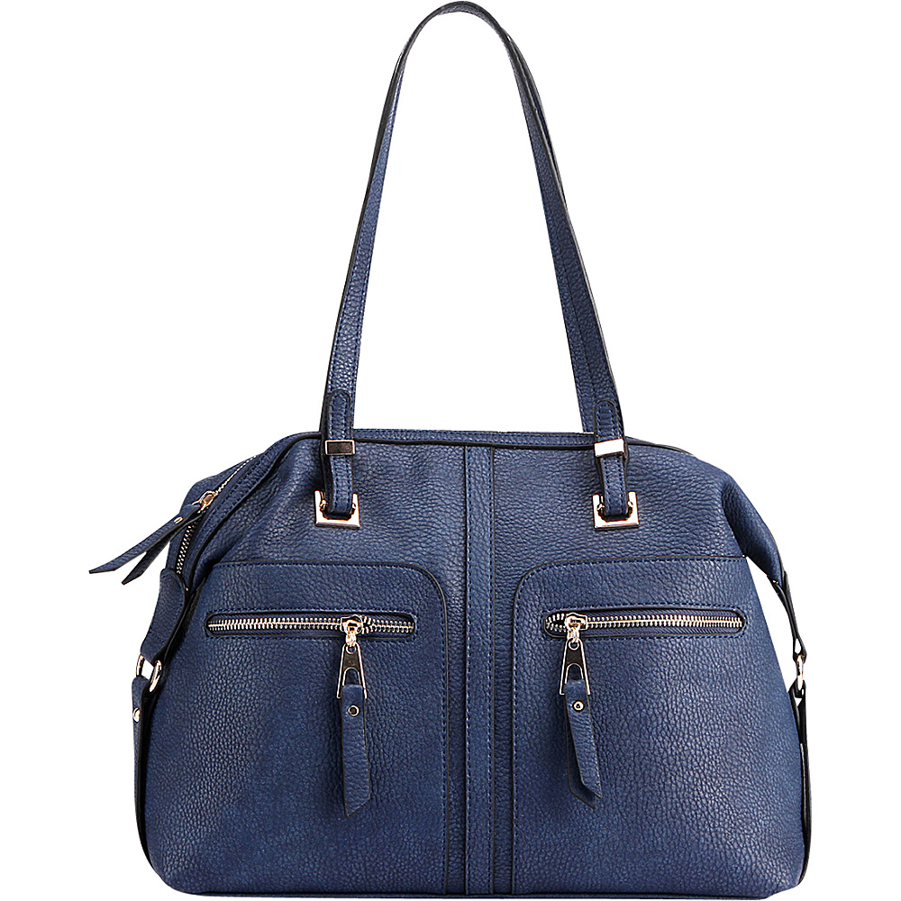 MKF Collection by Mia K. Farrow Blanche Satchel Blue - MKF Collection by Mia K. Farrow Manmade Handbags - Handbags, Manmade Handbags