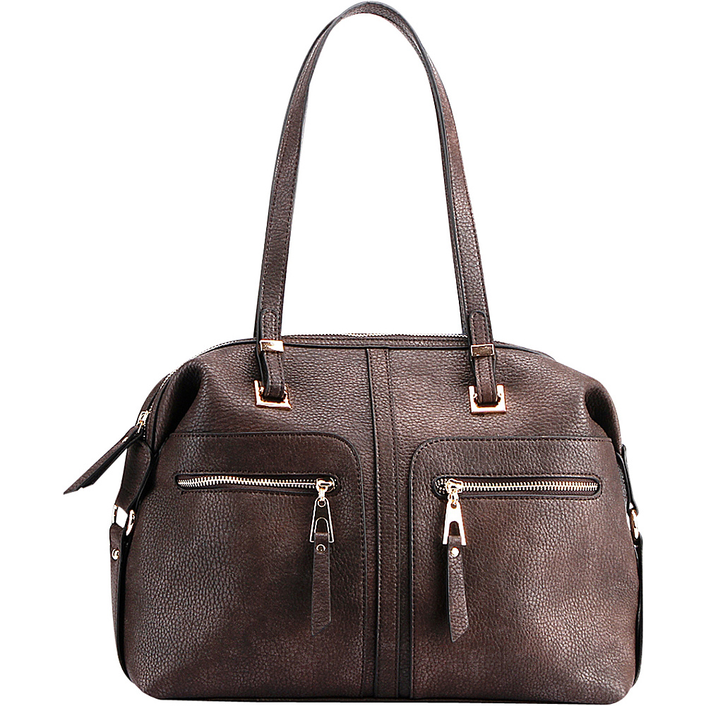 MKF Collection by Mia K. Farrow Blanche Satchel Coffee - MKF Collection by Mia K. Farrow Manmade Handbags - Handbags, Manmade Handbags