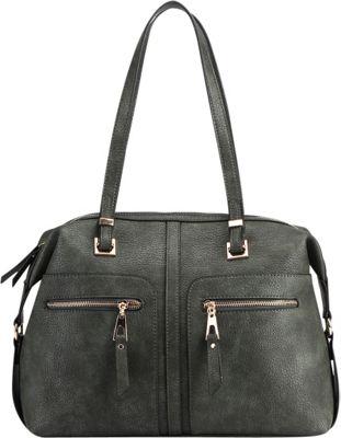 MKF Collection Blanche Satchel Green - MKF Collection Manmade Handbags