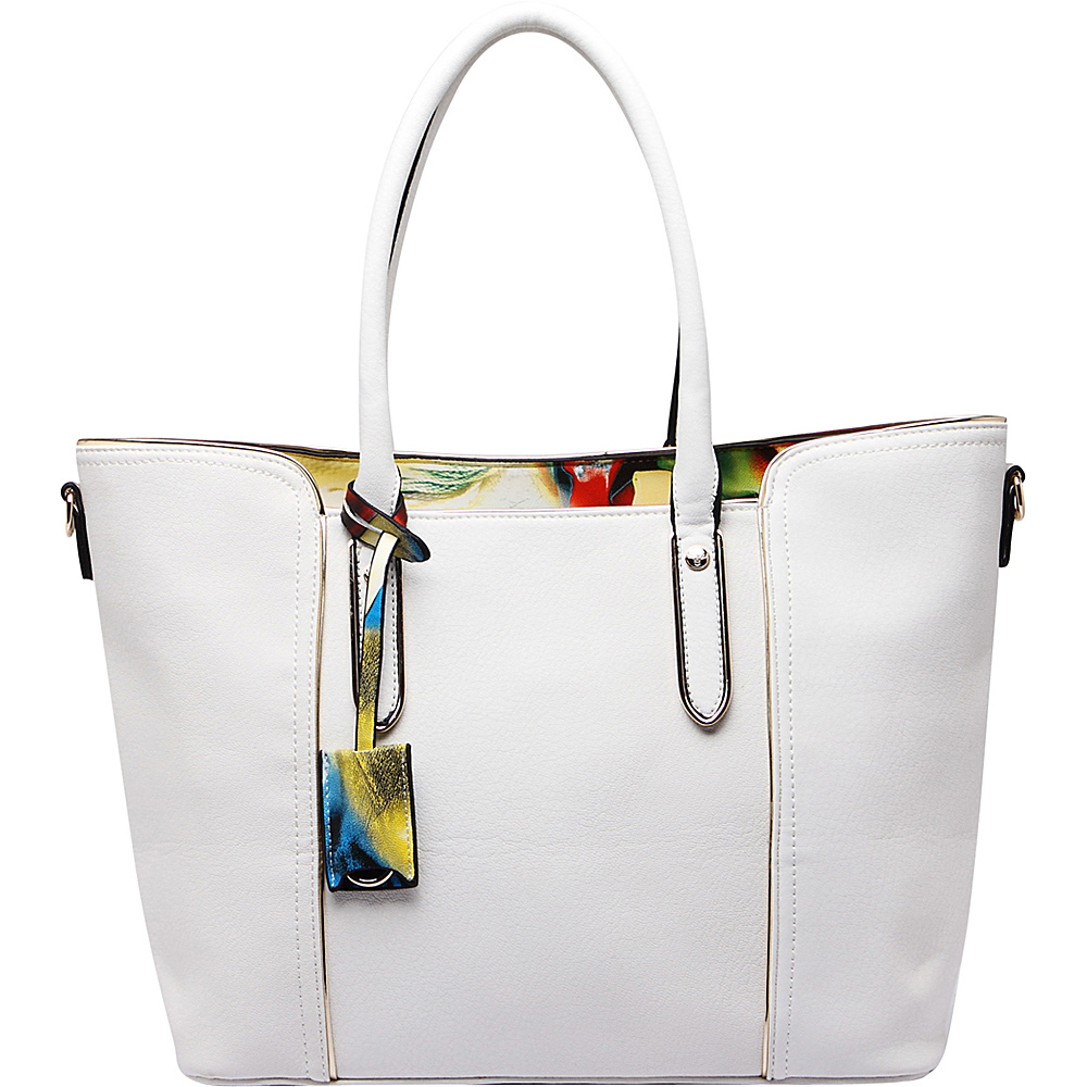 MKF Collection Jump Into Fall Tote Bag White - MKF Collection Manmade Handbags - Handbags, Manmade Handbags