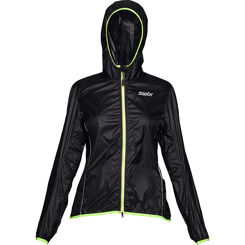 Swix Womens Cyclon Packable Wind Jacket L Black Swix Women s Apparel