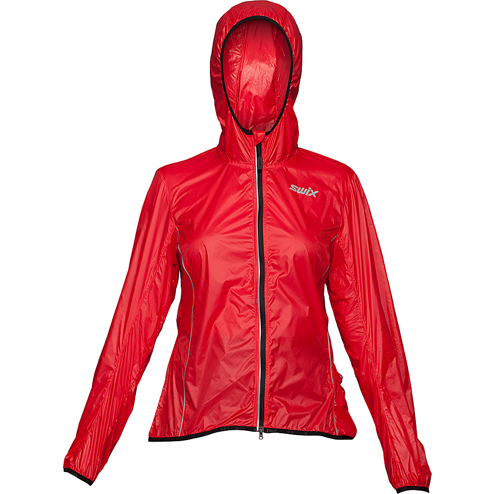 Swix Womens Cyclon Packable Wind Jacket S Hibiscus Swix Women s Apparel