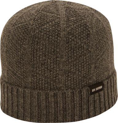 Ben Sherman Textured Beanie with Rib Knit Cuff Charcoal - Ben Sherman Hats 10471971