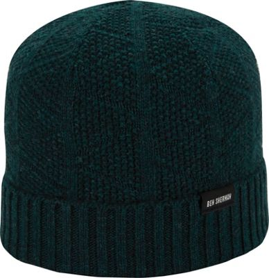 Ben Sherman Textured Beanie with Rib Knit Cuff One Size - Pinegrove - Ben Sherman Hats/Gloves/Scarves
