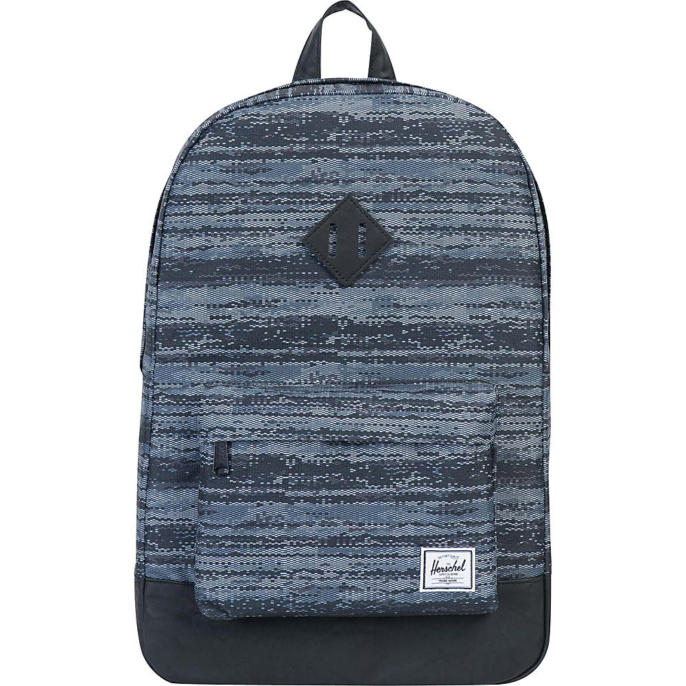 Herschel Supply Co. Heritage Laptop Backpack Discontinued Colors White Noise Black Synthetic Leather Herschel Supply Co. Business Laptop Backpacks
