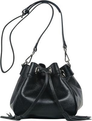 Vicenzo Leather Jolie Mini Bucket Bag Black - Vicenzo Leather Leather Handbags