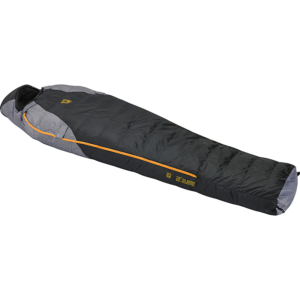 Slumberjack Sojourn 20 Degree 550f Long Dual Zipper Black Gray Slumberjack Outdoor Accessories