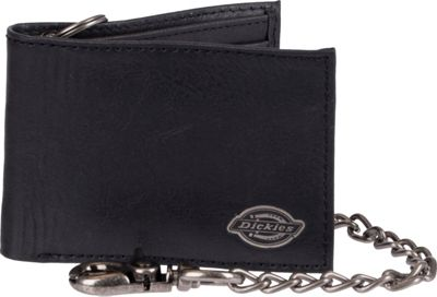 Dickies Wallets Slimfold Wallet with Inlaid Metal Logo Ornament Black - Dickies Wallets Men's Wallets