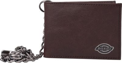 Dickies Wallets Slimfold Wallet with Inlaid Metal Logo Ornament Brown - Dickies Wallets Men's Wallets