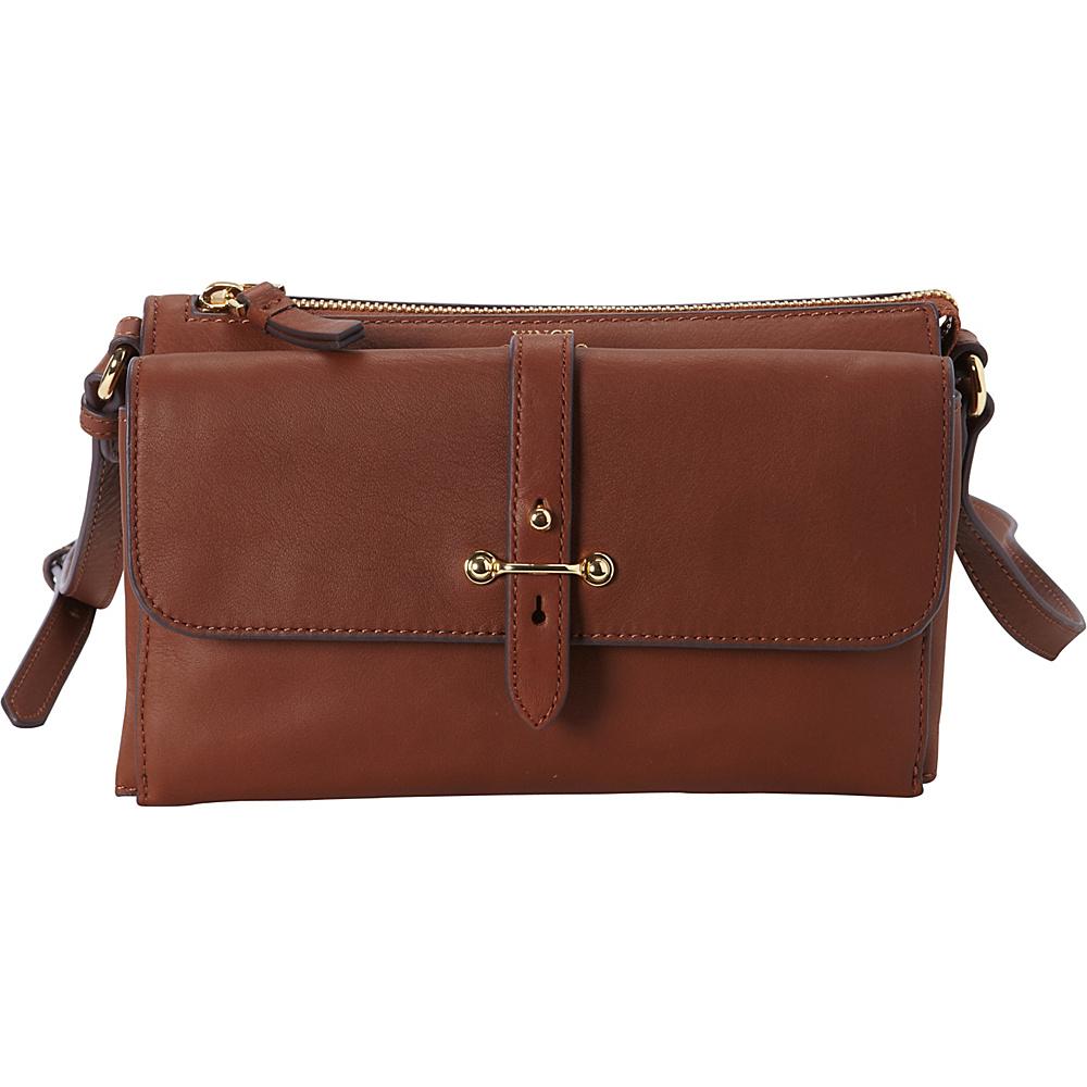 Vince Camuto Cass Crossbody Cognac Vince Camuto Designer Handbags