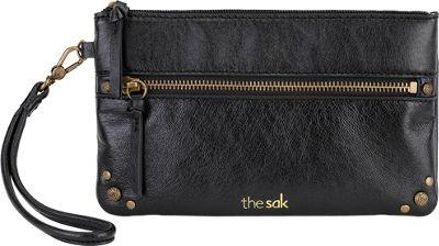 The Sak Sanibel Phone Charging Wristlet Black Onyx - The Sak Leather Handbags