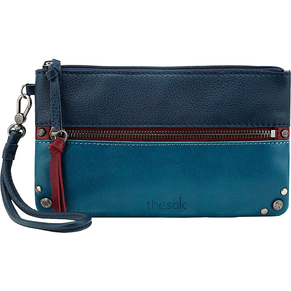 The Sak Sanibel Phone Charging Wristlet Multi Block The Sak Leather Handbags