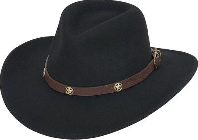 Adora Hats Wool Felt Western Hat One Size - Black - Adora Hats Hats/Gloves/Scarves