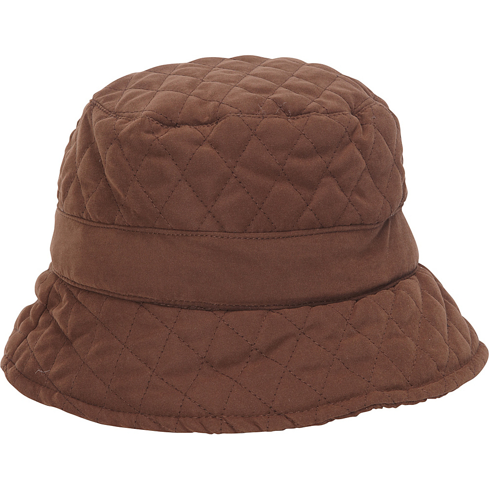 Adora Hats Quilted Bucket Hat Brown Adora Hats Hats Gloves Scarves