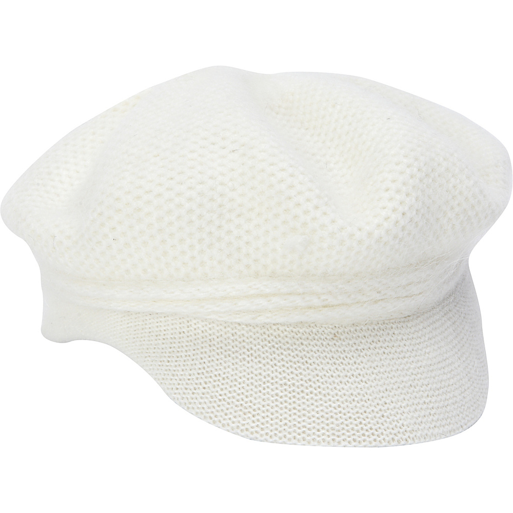 Adora Hats Wool Newsboy Hat Ivory Adora Hats Hats Gloves Scarves
